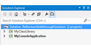 .NET Reflection - Solution Explorer Getting Started