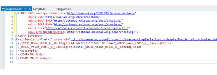 SoapFormatter XML Output